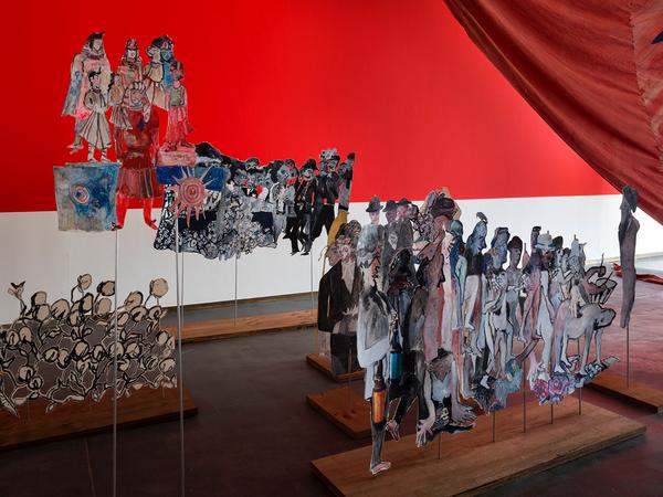 ©Renato Ghiazza - Exhibition views, Anna Boghiguian, Castello di Rivoli Museo d'Arte Contemporaranea, Rivol-Turin, 2017