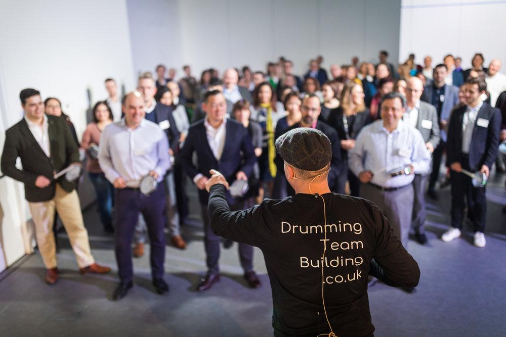 team building drumming london