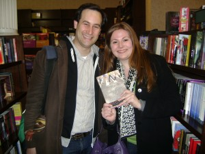 With my brilliant editor David Levithan