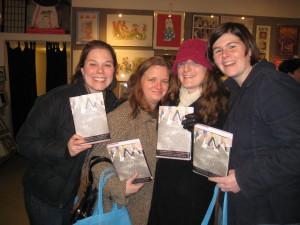 My college buddies now: Jen, Kurstin, Sasha (Kurstin's sister) and Sarah