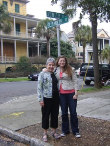 My mom, Judith, and I saw an intersection where Elizabeth Street meets Judith Street - how could we not take a picture?