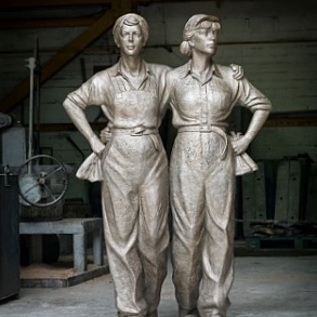 WOMEN OF STEEL  by Martin Jennings. © in the work owned by the artist. Photo credit PMSA.