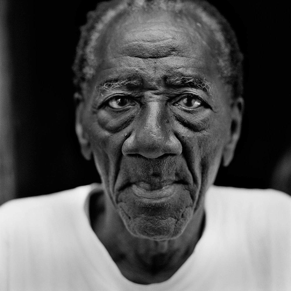 André Pierre, painter and houngan, Croix-des-Missions, Haiti, 2004