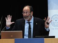 Alvin E. Roth, economics co-winner, giving Nobel Lecture, Aula Magna hall. Photo: Nobel Media