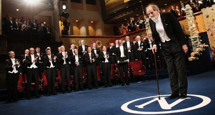 Shapley and fellow 2012 prize winners. Photo: Nobel Media