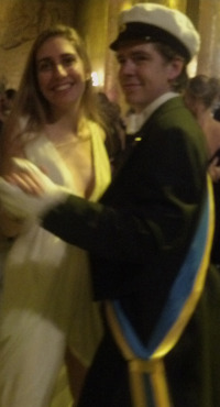 Usher and date on the dance floor. Photo: Deborah Shapley