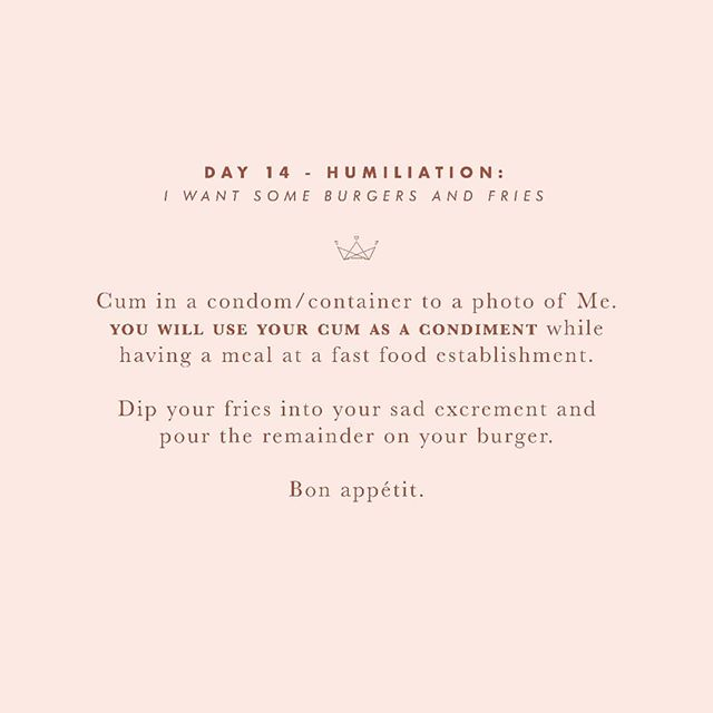 Day 14 -  Losers like yourself don't deserve nice condiments.  #30daysofsubmission  #bdsm #bdsmcommunity #bdsmgame #sgbdsm #sgdomme #asianmistress #mistress #asiandomme #prodomme #domination #dominatrix #domme #femdom #femdomme #fetlife #kink #dominatrixworship