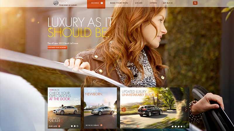 "BUICK  Global WEB EXPERIENCE  ""buick.com"""
