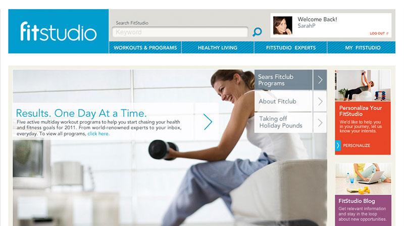 "sears  online fitness hub  ""fitstudio"""