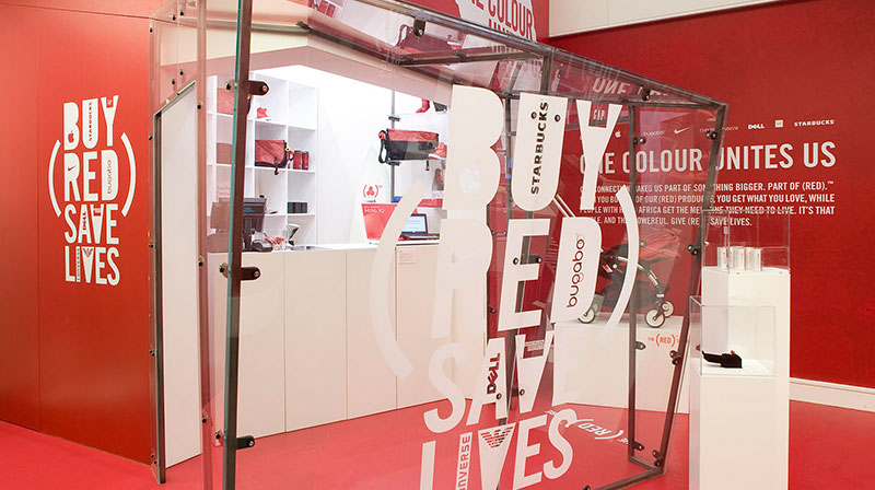 """PRODUCT (RED)  360˚ GLOBAL Campaign  """"ONE COLOR UNITES US"""""""
