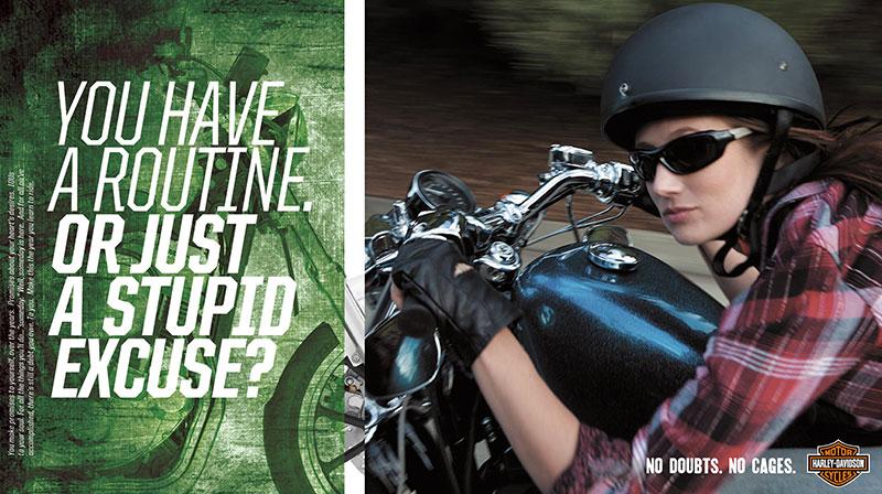 "harley davidson  print campaign  ""women riders"""