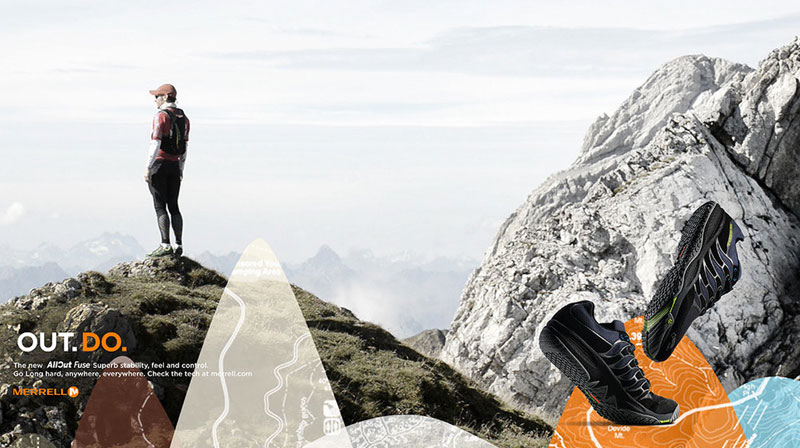 """MERRELL  PRINT CAMPAIGN  """"OUT DO"""""""
