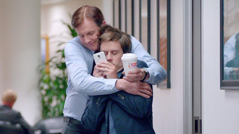 """dunkin'  tv:30  """"office Hugs"""""""