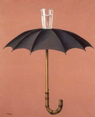 Magritte exhibition painting Vacances de Hegel