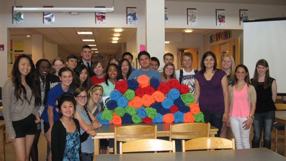 - Rogers High School Key ClubRogers High School Key Club students surprised us with over 30 blankets that they made and donated for moms and their new babies