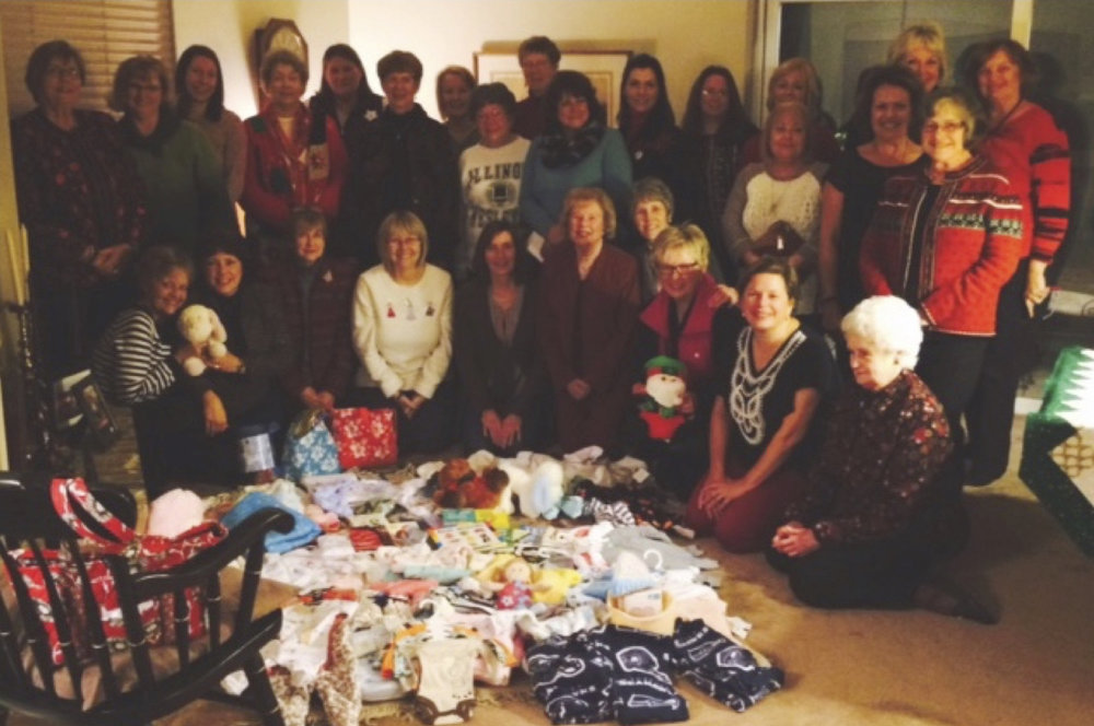 november - Puyallup PEO Group(Philanthropic Educational Organization)Puyallup's PEO group adopted Step by Step this Christmas season! In place of a gift exchange, they purchased and made items for our