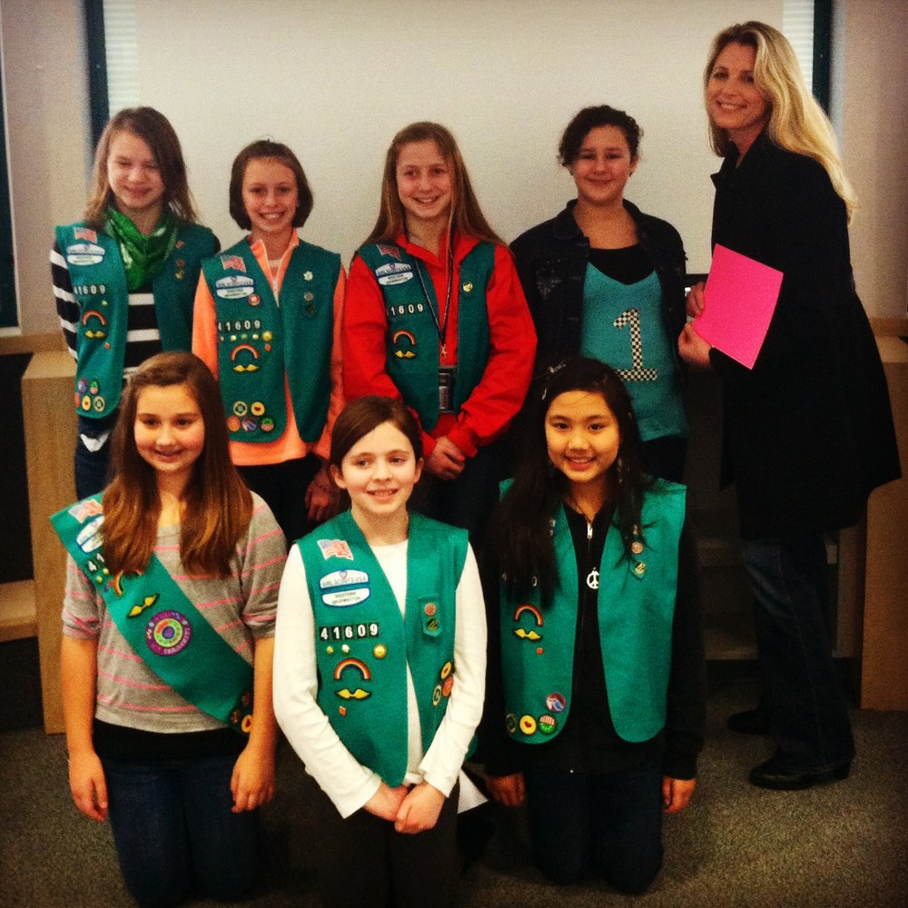 - Girl Scout Troop #41609Girl Scout Troop #41609 donated some of their cookie sale money to Step By Step. Every dollar counts, and we are honored that they picked us! We love seeing kids help other kids!