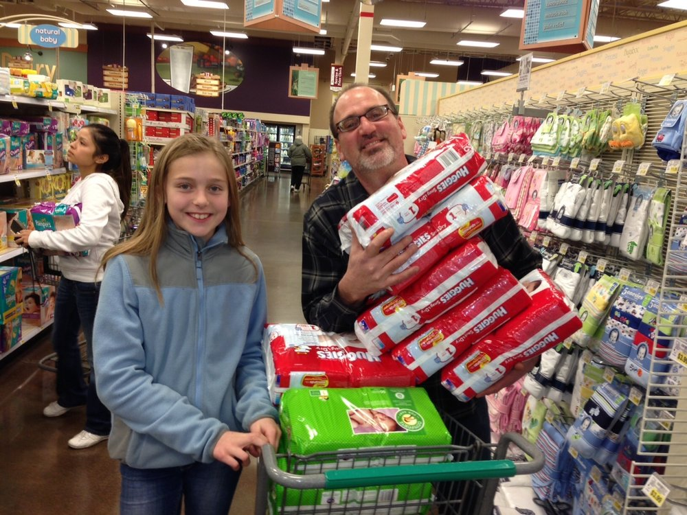 January - IsabellaIsabella, 5th Grade President at Lynnwood Elementary, picked Step By Step for her Empathy Project. Together with her class, she held a diaper drive that brought in over 1,000 diapers!