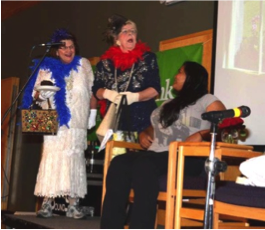 """OCTOBER - Margaret Toop& Drama TroopMargaret & Jim Toop, Sammie (a client), Tina Bustamante, Bob & Flo King, Dan Clabots, Kimber Toop, Vicki Carlson and Gail Danforth performed a drama – """"Building Home Sweet Home,"""" at our October Fall Celebration. The skit, although humorous, depicted a very real look at some of the everyday challenges facing our clients.The play emphasized and illustrated the impact Step By Step can have on the lives of women and their families as we serve to help them deliver a healthy baby, start building a safe home and learn positive parenting and life skills."""