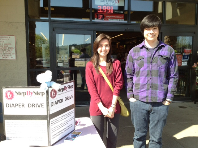 April - Northshore KiwanisNorthshore Kiwanis teamed up with members from their local high school Key Club to hold a diaper drive for Step by Step. They collected $2,500 worth of baby supplies from the drive. They also fundraised $585.00 from Safeway customers. Thank you Sue Busky for orchestrating the drive!Bethany Bible Women's GroupThe Bethany Bible women's group also held a diaper drive, collecting over 2,000 diapers as well as baby wipes and formula. Many of these items have already been a huge blessing to our clients.