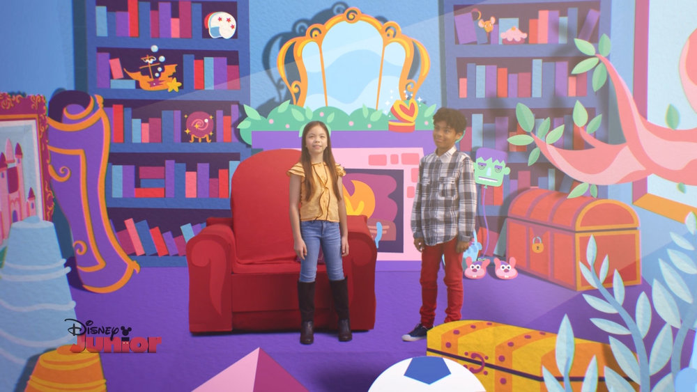 The Story Room adjusted within the colour palette to represent different times and lighting environments.