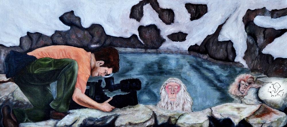""" Hot spring drama "" -Oil on linen"