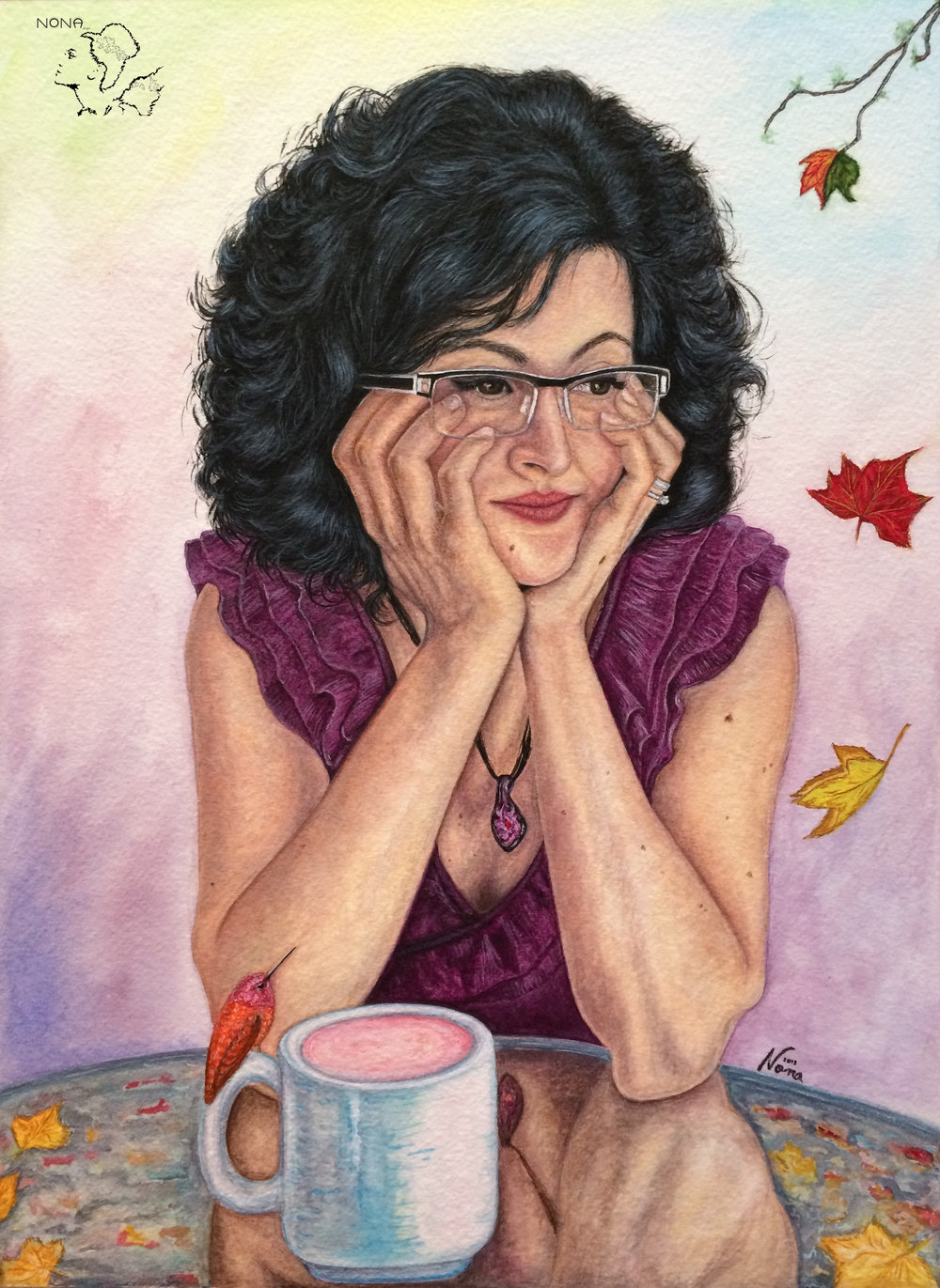 """Self-Portrait"" -  Watercolor on paper 2018"