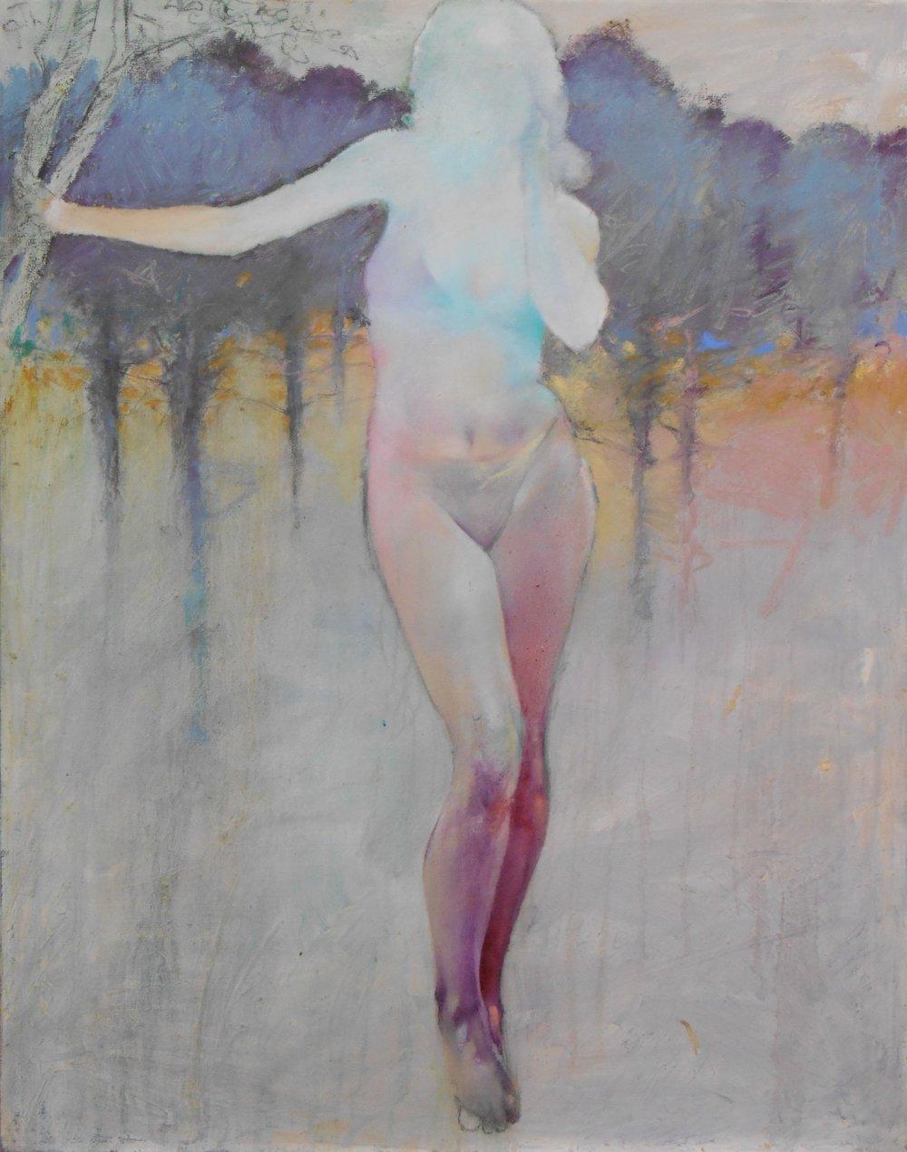 Past 1.Spring_Oil Pastel on Canvas_2003_50x44 Yu Ming Zhu 2015.JPG