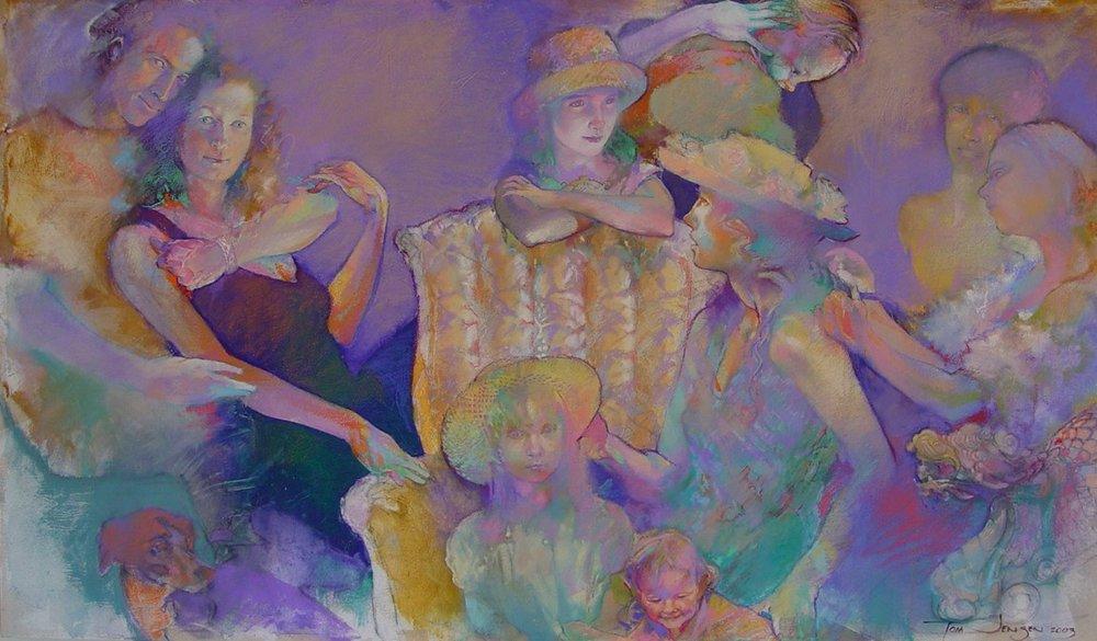 Past 2. Hil Portrait _Oil Pastel on Canvas_36x72_2004.jpg