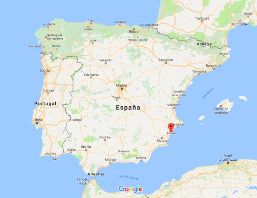 Map SantaPola