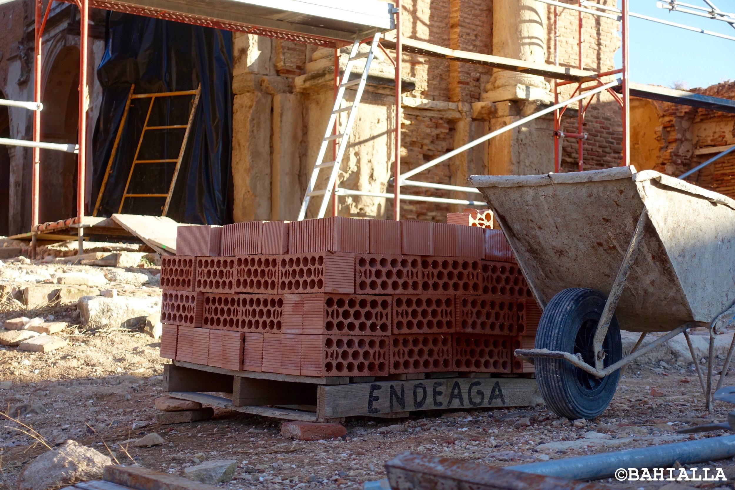 bricks wheelbarrow