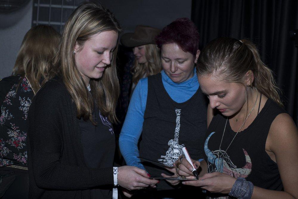 Lauren Jenkins meets fans at Introducing Nashville during C2C Berlin on Saturday, March 2, 2019.