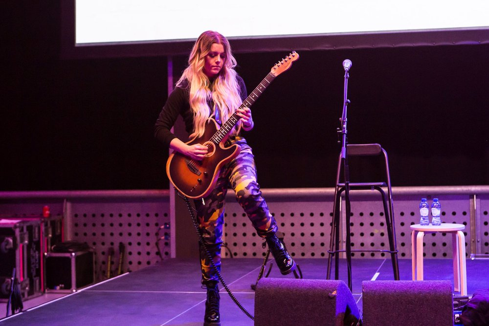 Lindsay Ell performs at Introducing Nashville during C2C Amsterdam on Monday, March 4, 2019.