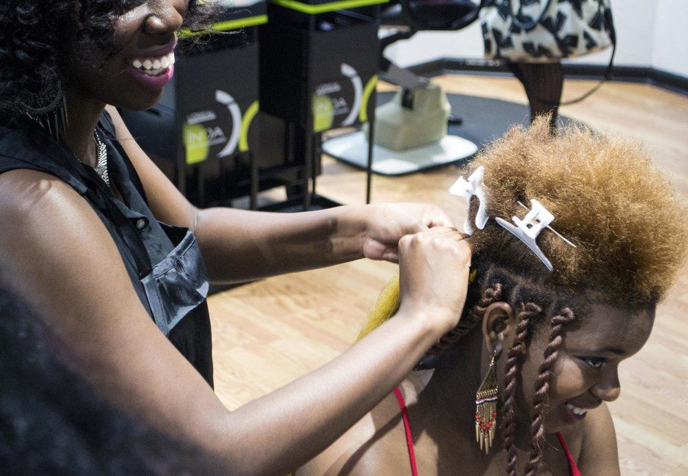Hairstylist: Imani Nixon, Client: Whitney Johnson, Photographer: Silvia Abisaab