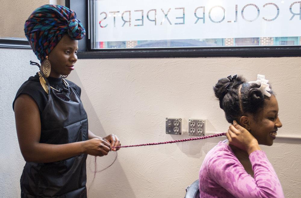 Hairstylist: Krystal Jolicoeur, Client: Nandi Harrison, Photographer: Silvia Abisaab