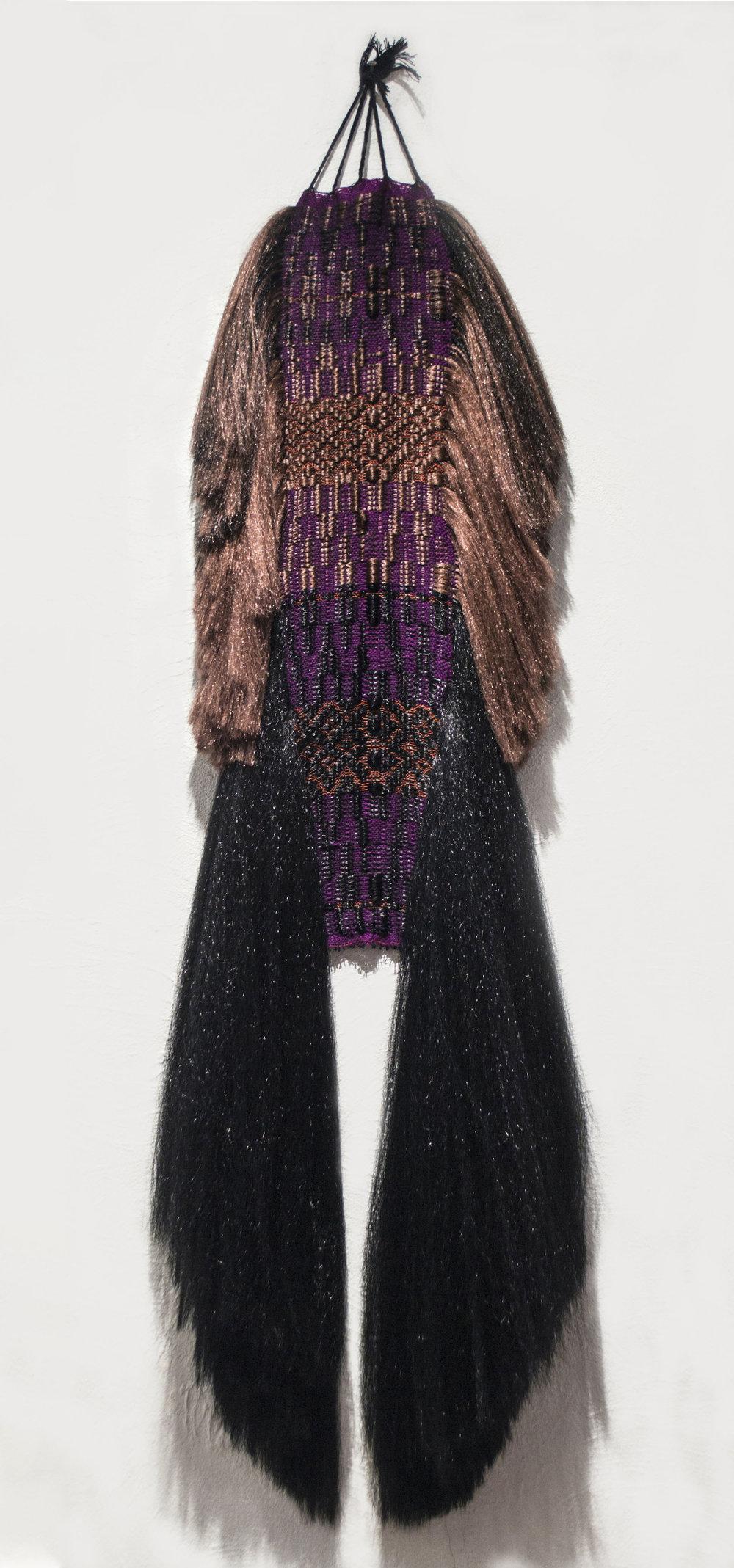Dia-Triangular  2014, Cotton and synthetic hair, Photographer: Sylvia Abisaab SOLD