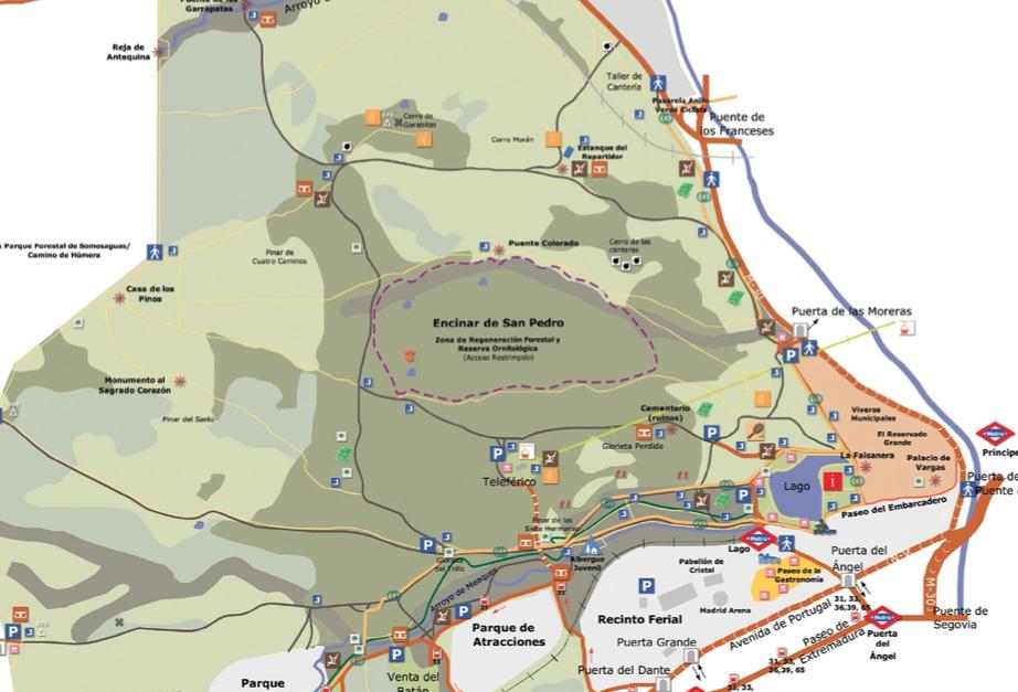 Casa de Campo Mapa