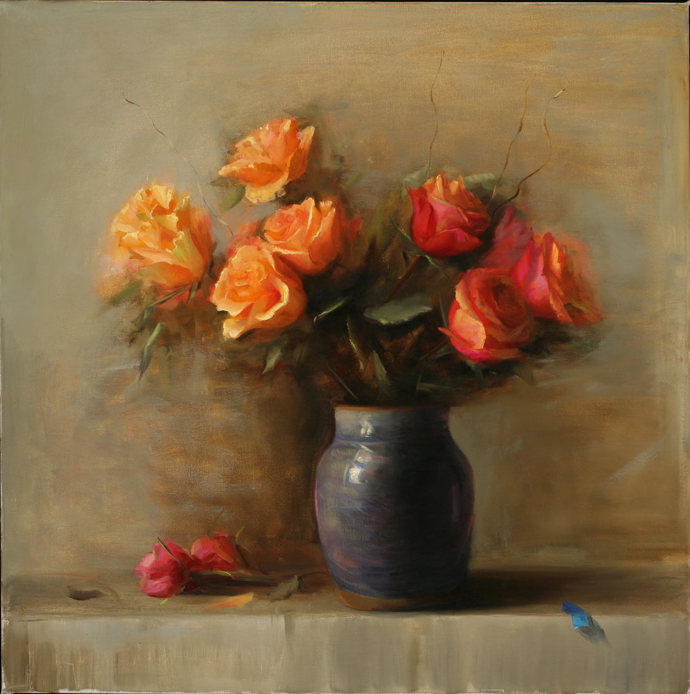 Roses 2015 oil on canvas.JPG
