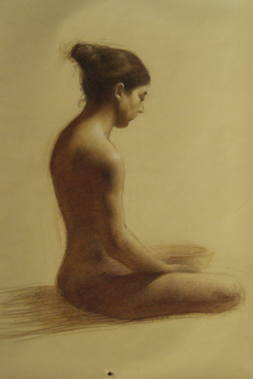 Ani (study for the Oracle) sepia pencil on paper 22x18 2011.JPG