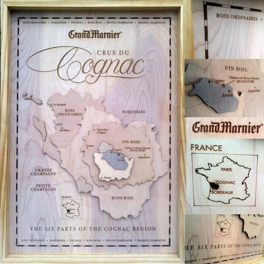 Regions of Cognac - Corporate Branding Map