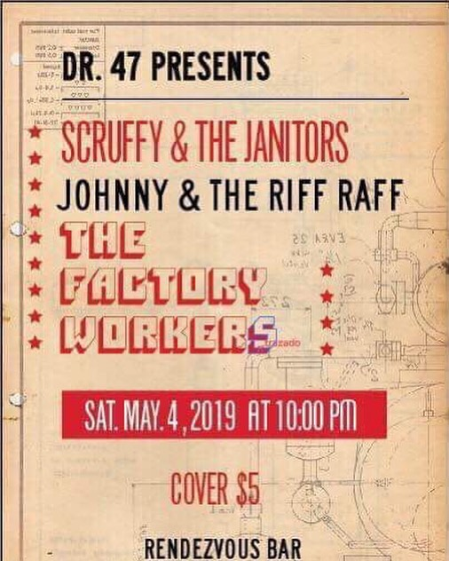You're not gonna wanna miss the return of blues/rock duo the Factory Workers!