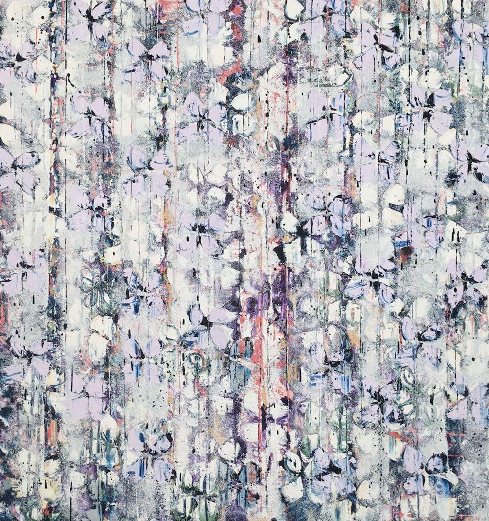 White/Violet Cascade