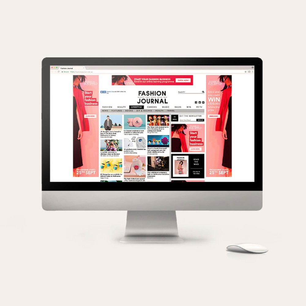FASHION EQUIPPED - Online Advertising for  Fashion Journal