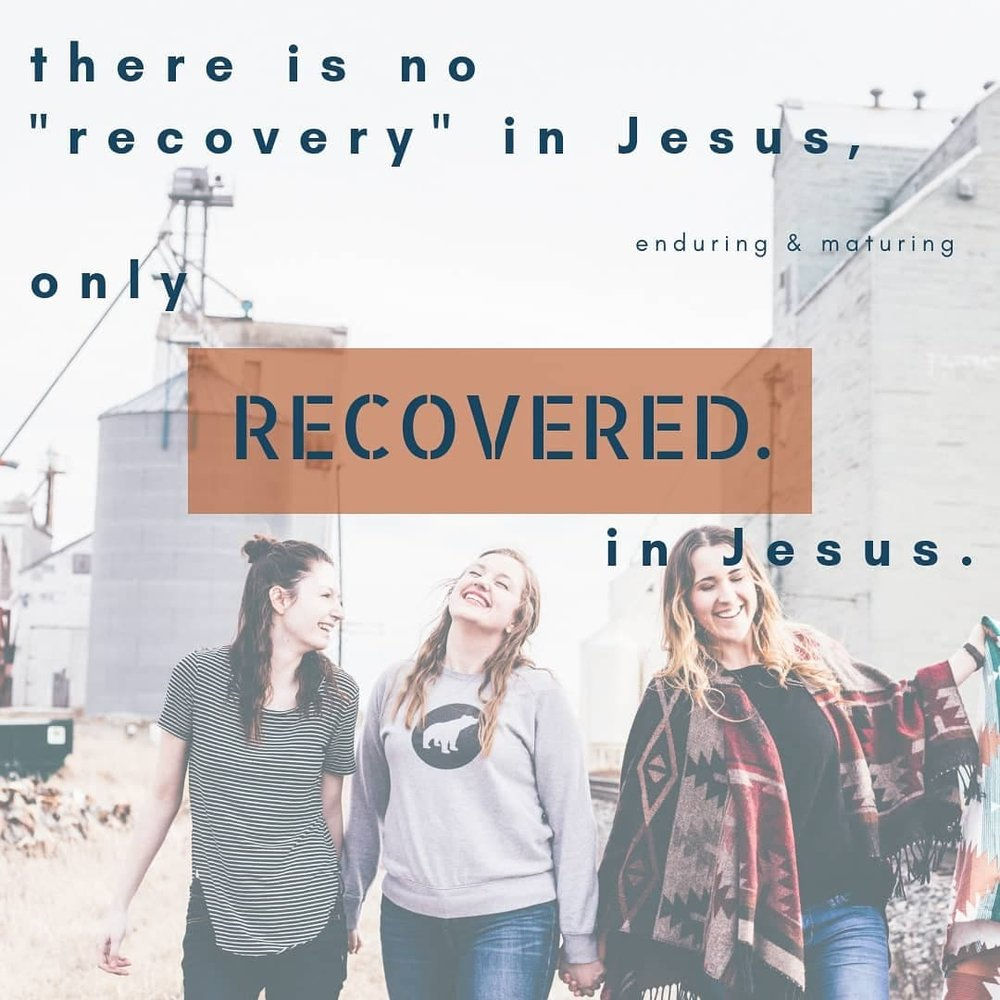 Jesus' work is finished work. you have been recovered.