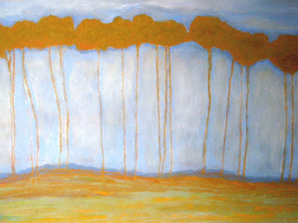 """Brown Trees, 36x24"""", $1200 Sold"""