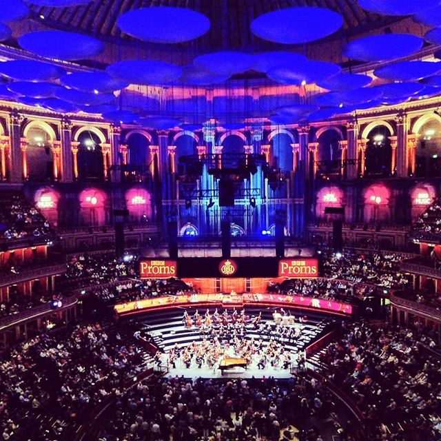 Proms romantic night! Listz piano concerto no.2 and Bruckner sym.4.