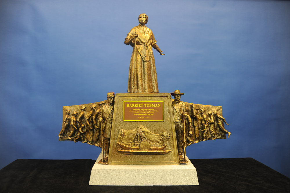 The Model of the Harriet Tubman Monument by sculptor Ed Dwight - was unveiled at the Tabernacle Baptist Church on Tuesday, October 16, 2017 at 12:00 noon.