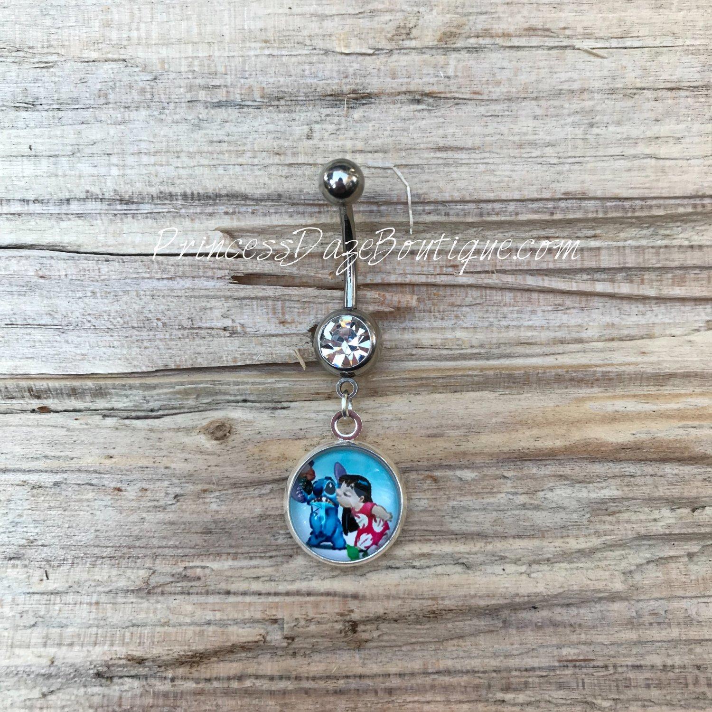 Lilo Stitch Belly Button Ring