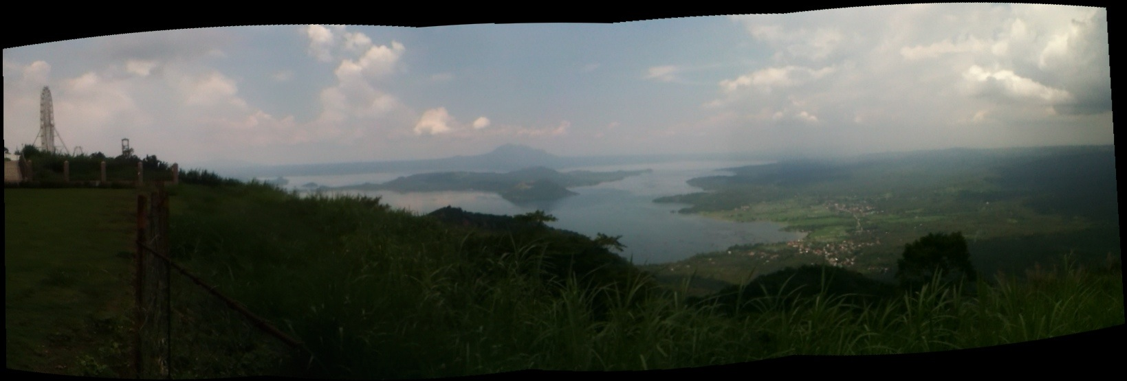 Taal Volcano and Lake panoramic view, ferris wheel, Philippines