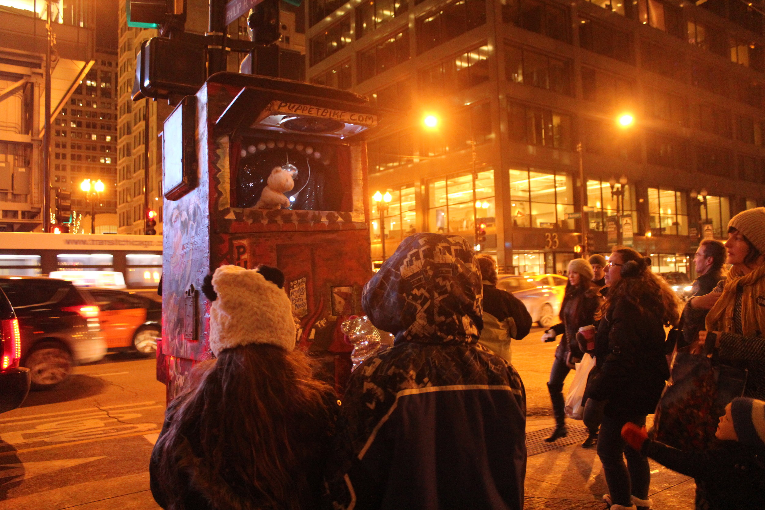 Puppet Bike delighting Chicago's young and old